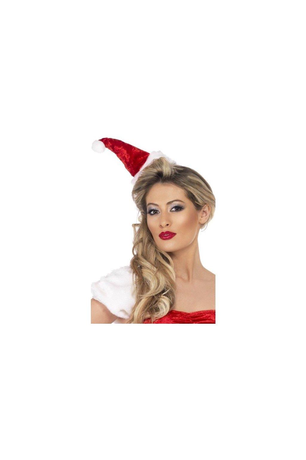 Vánoční čepice pro santu na čelence