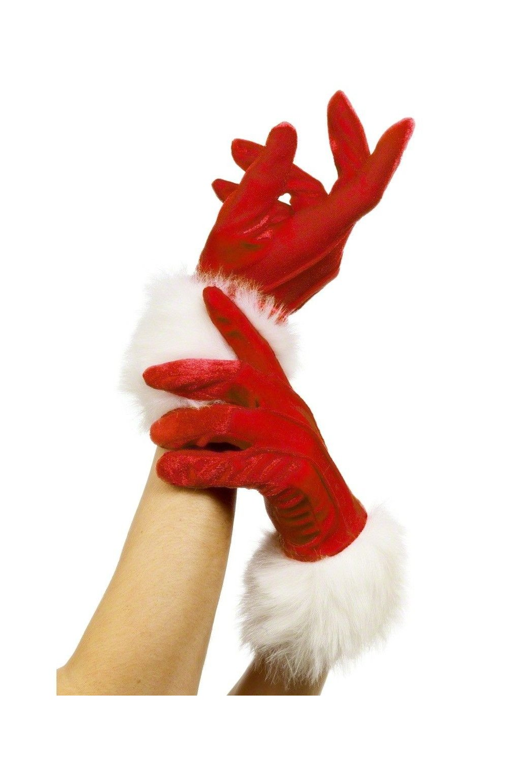 Červné rukavice - Santa