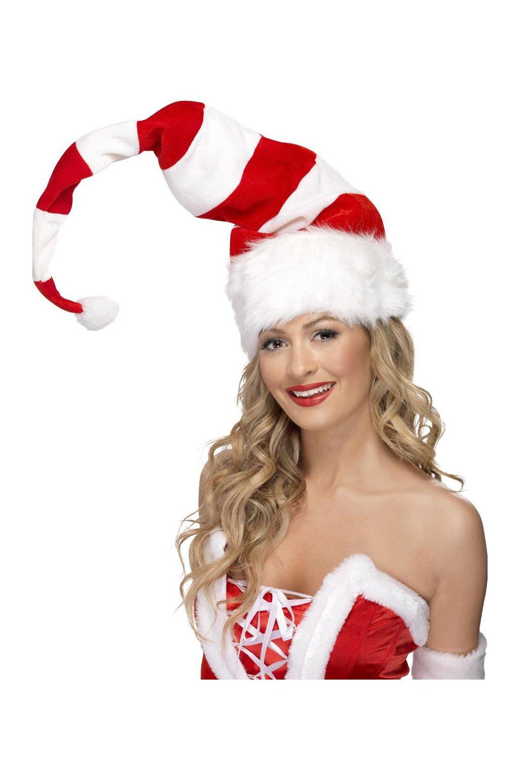 Vánoční čepice Santa - pruhovaná