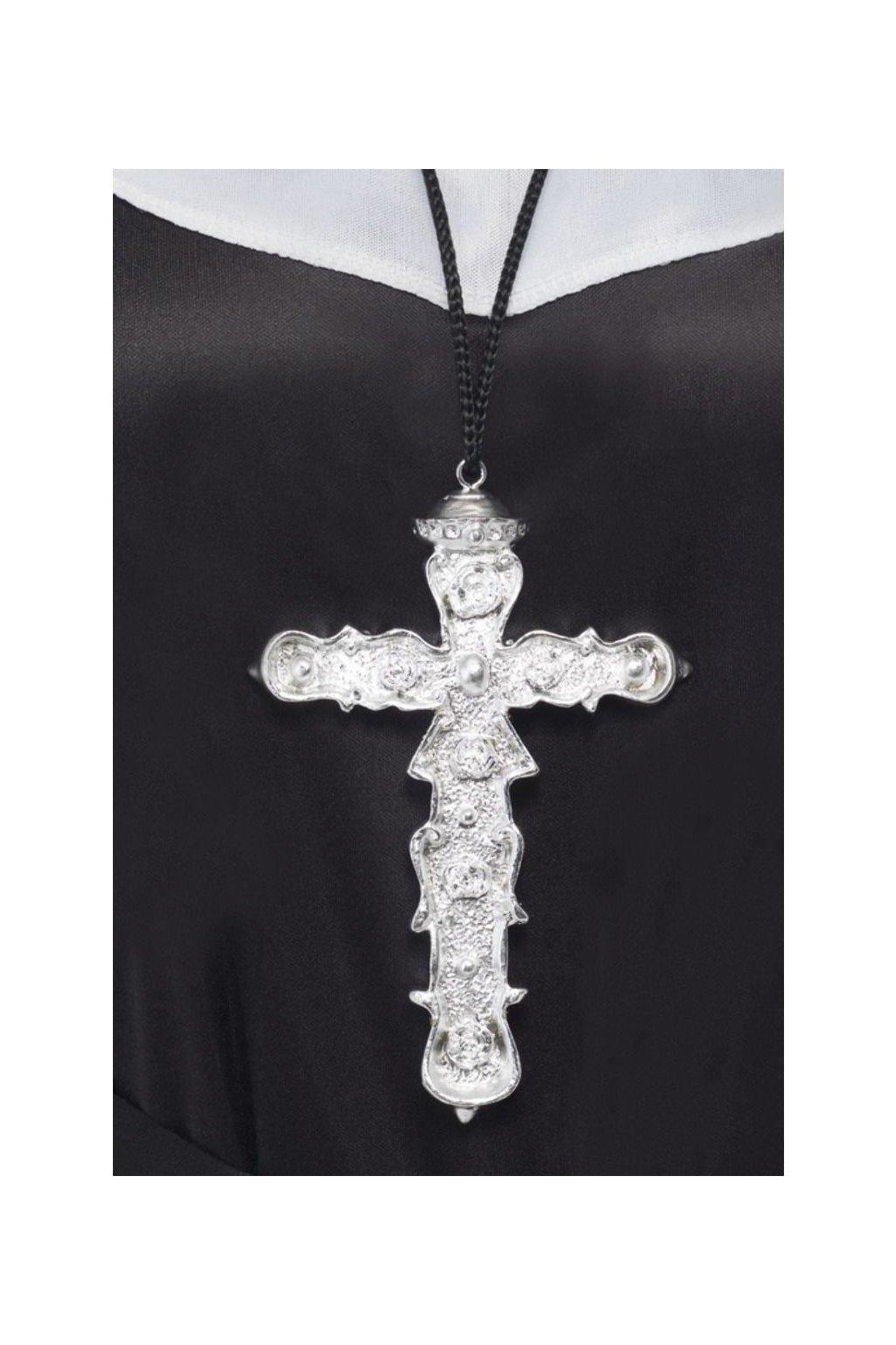 Kříž stříbrný 15cm