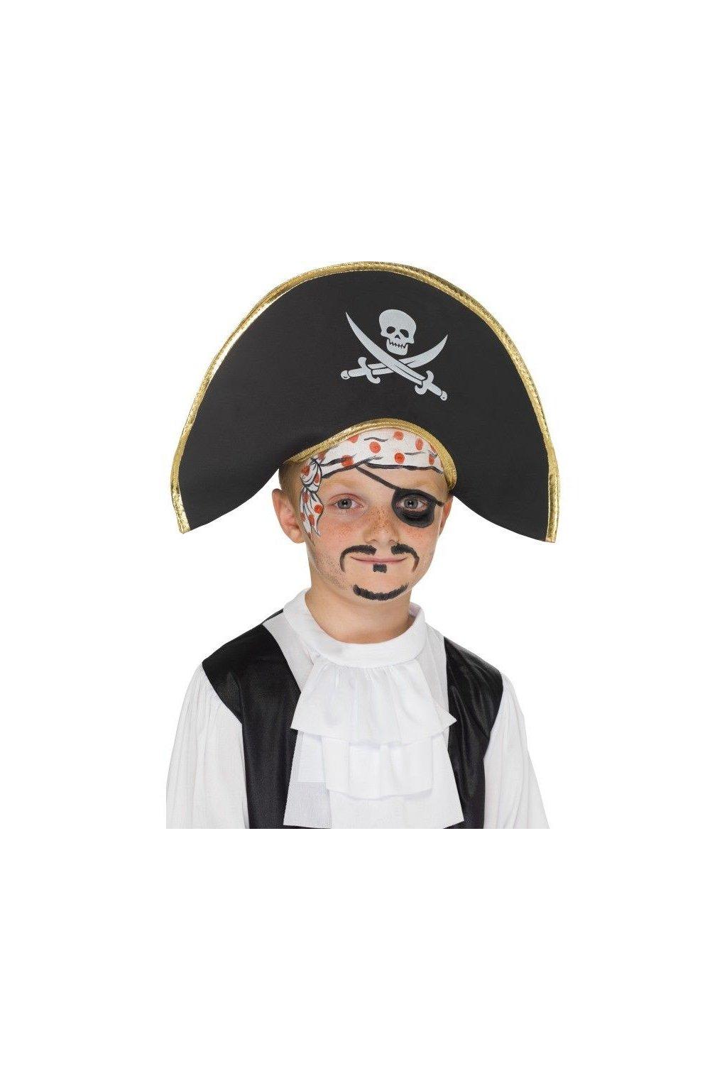 klobouk pirát - dětský