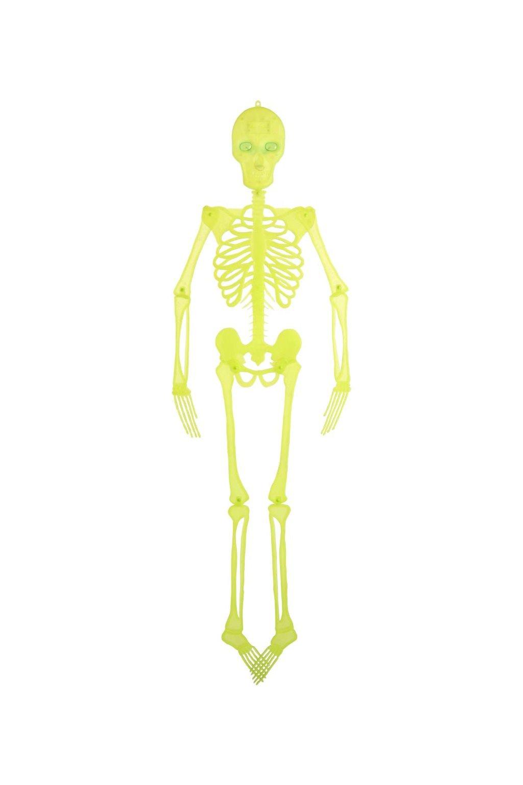 Svítící kostlivec 150cm - závěsná dekorace Halloween