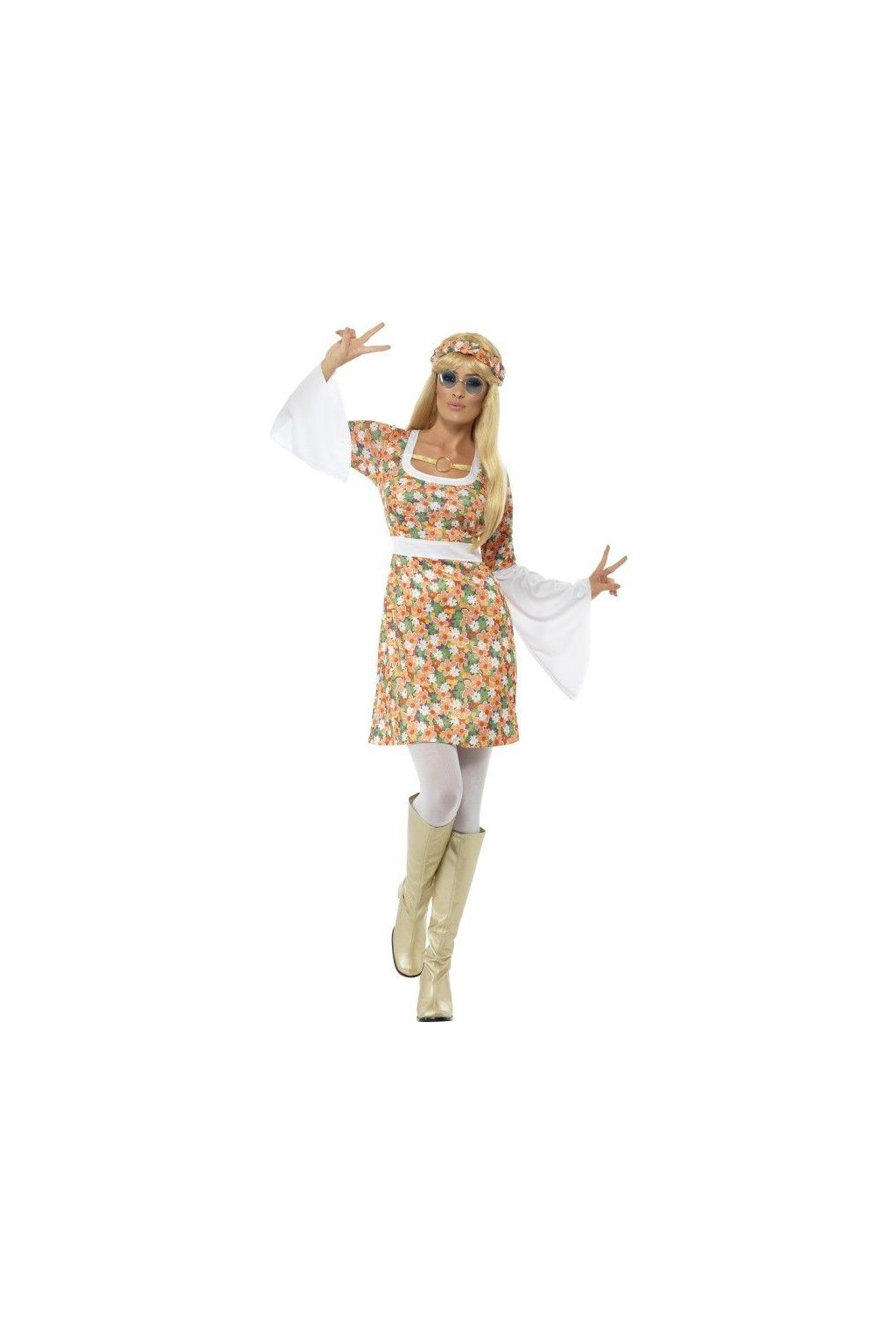 hippies kostým - dívka míru