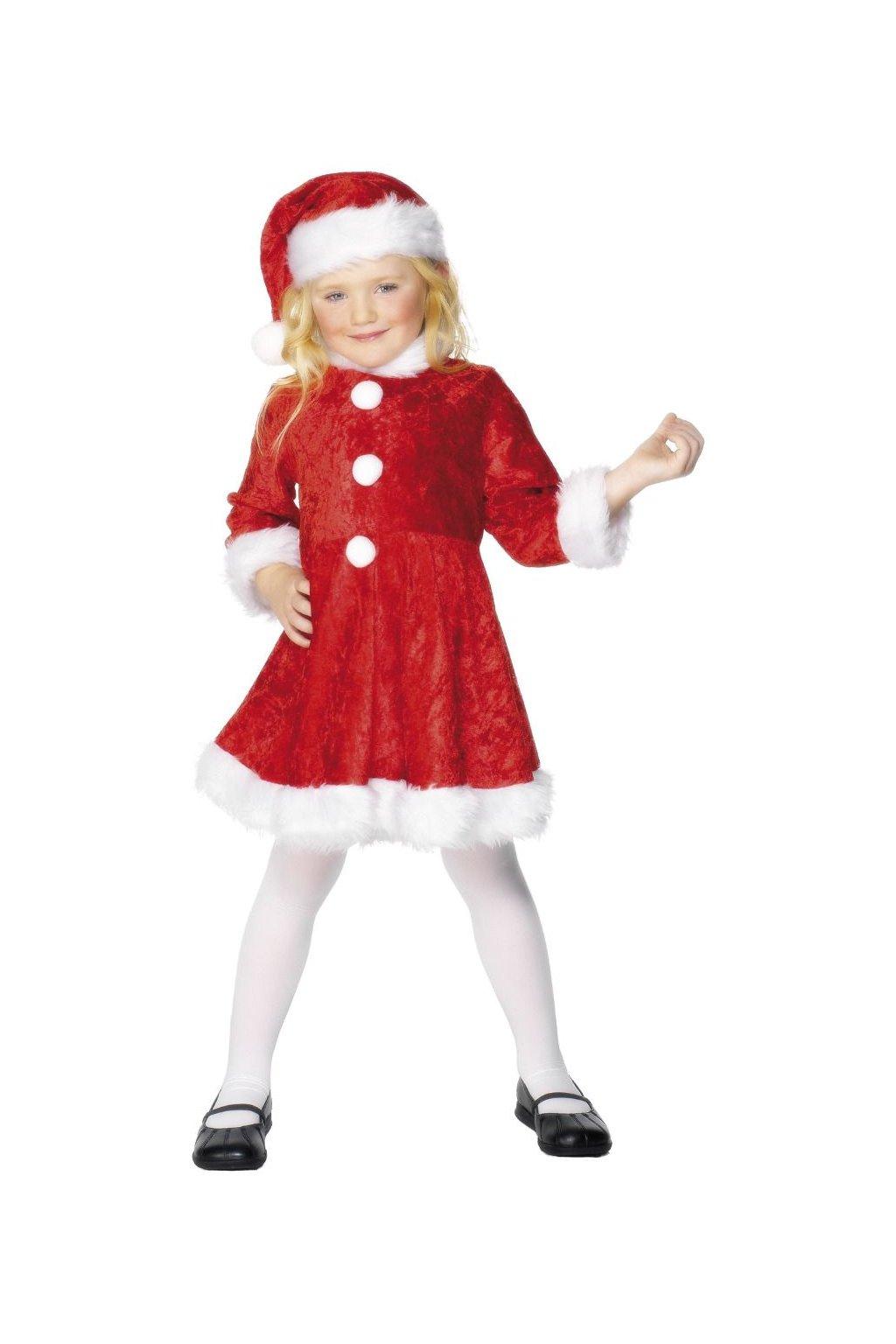 Dětský kostým - Santa girl