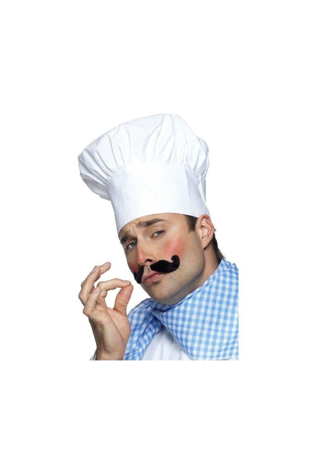 Kuchařská čepice - bílá
