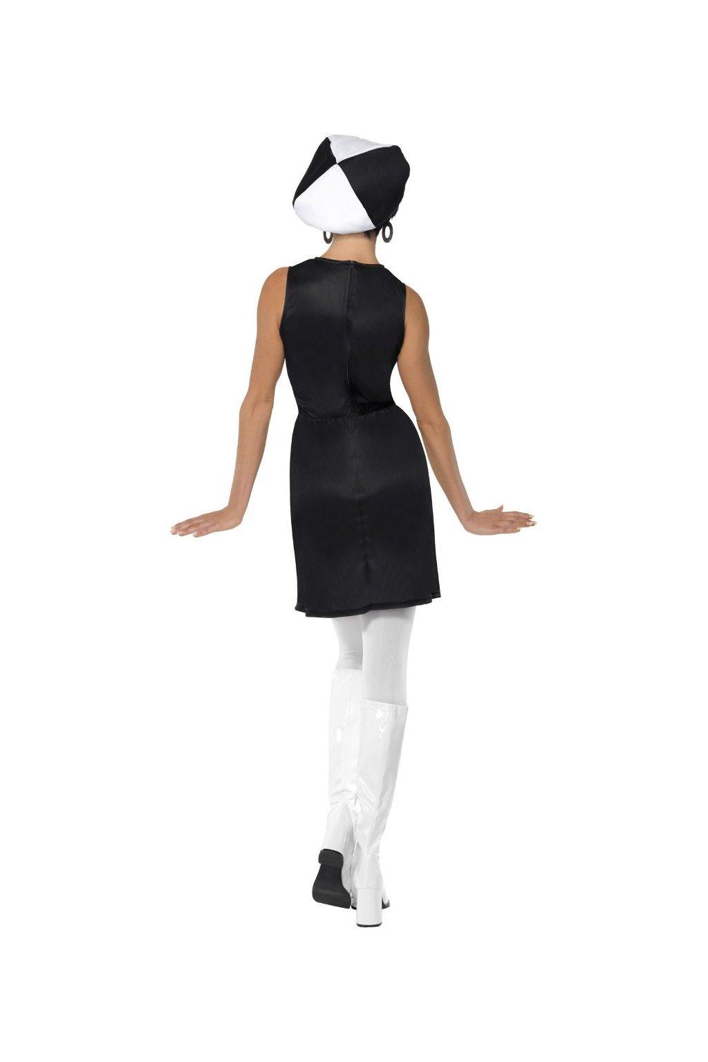 Retro kostým - černobílý