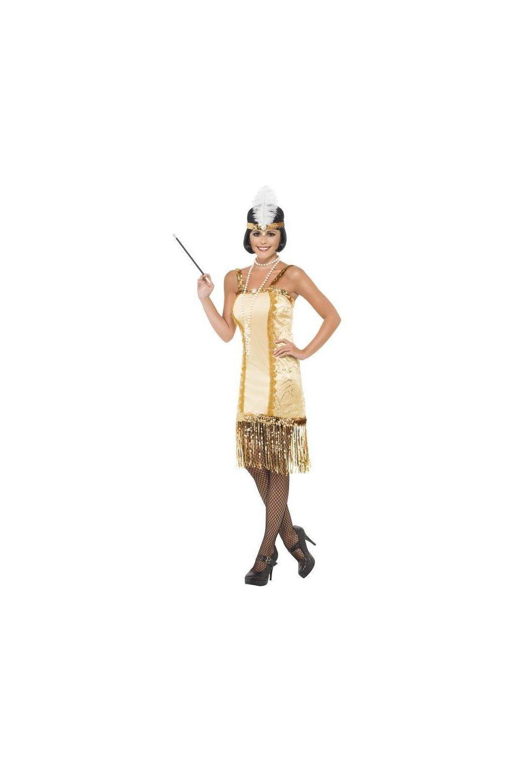 Zlatý charlestonový kostým