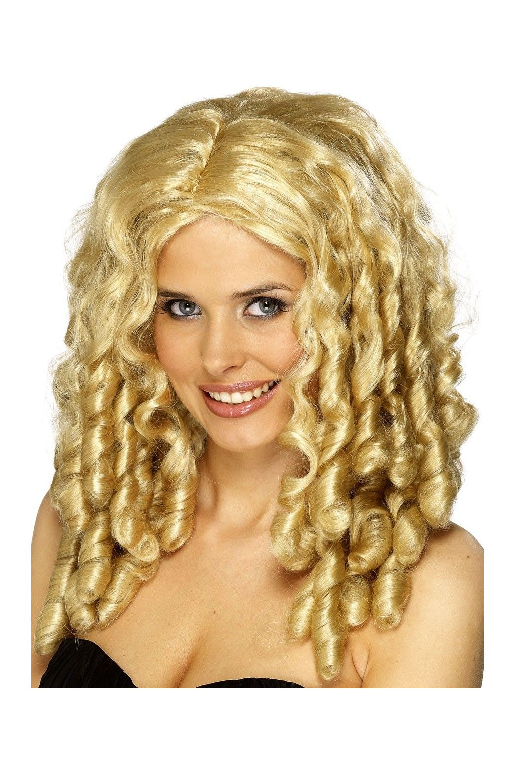Dámská blond paruka s loknama