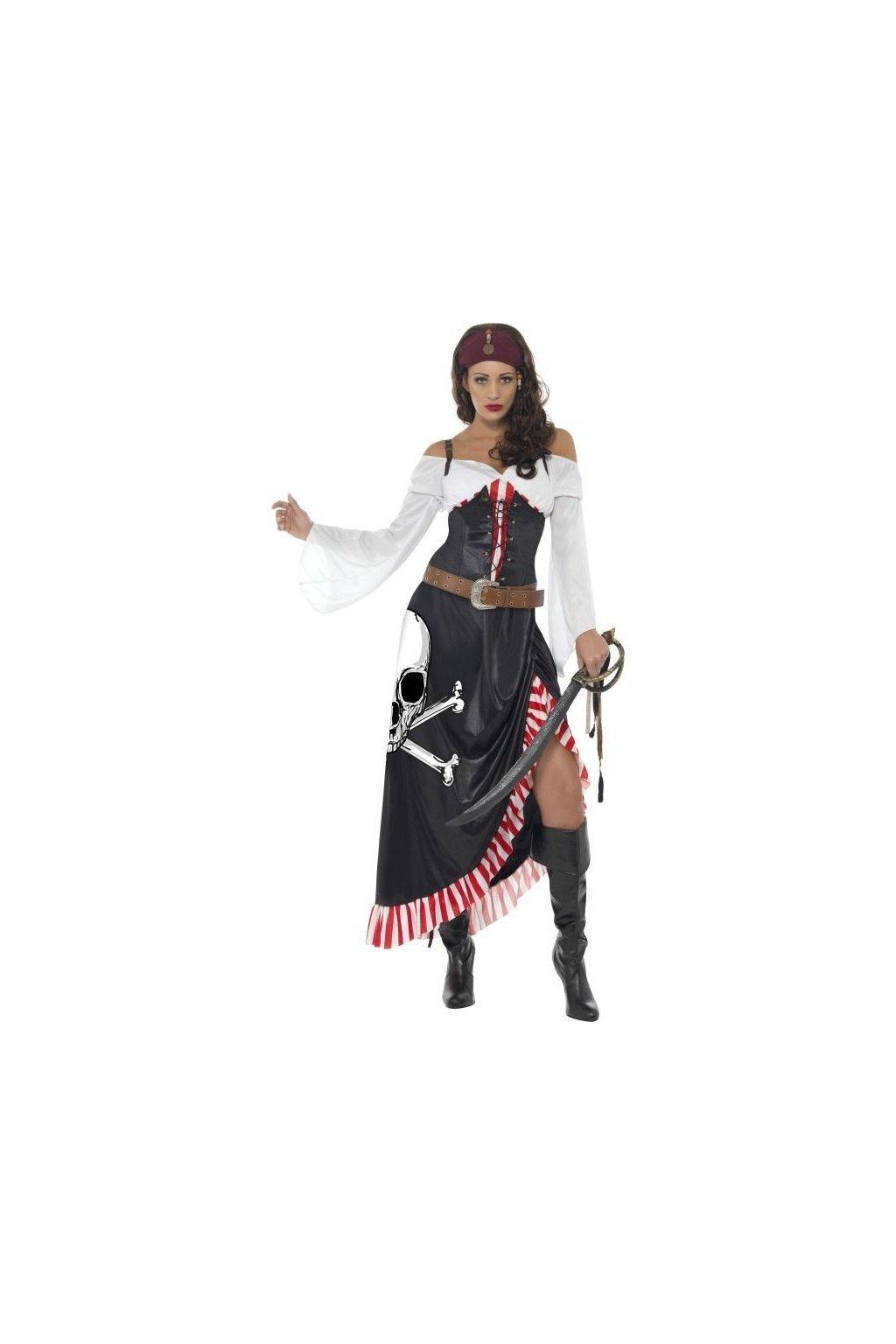 Kostým pirátky s dlouhou sukní