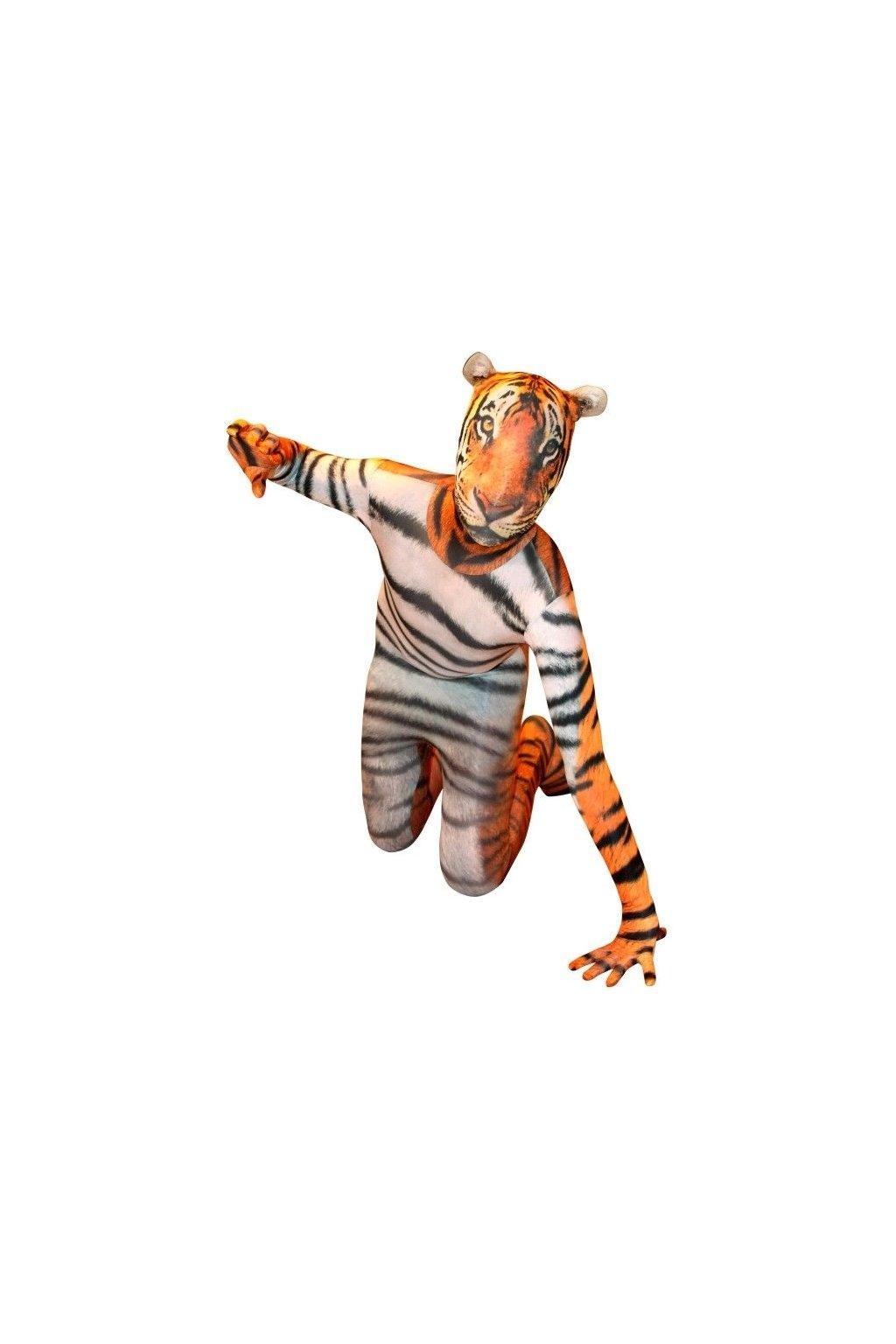 Kostým tygr - morphsuit
