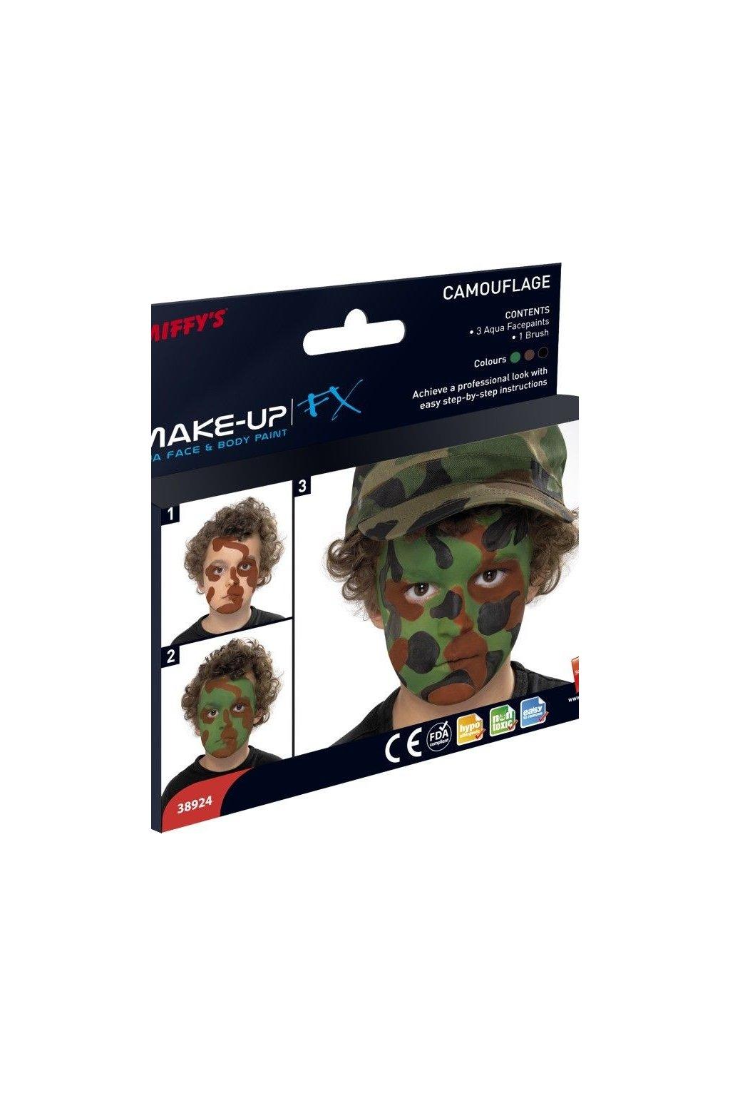 Barva na obličej a tělo - sada - voják