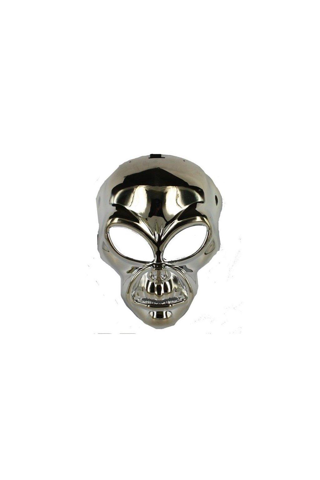 Alien stříbrná maska