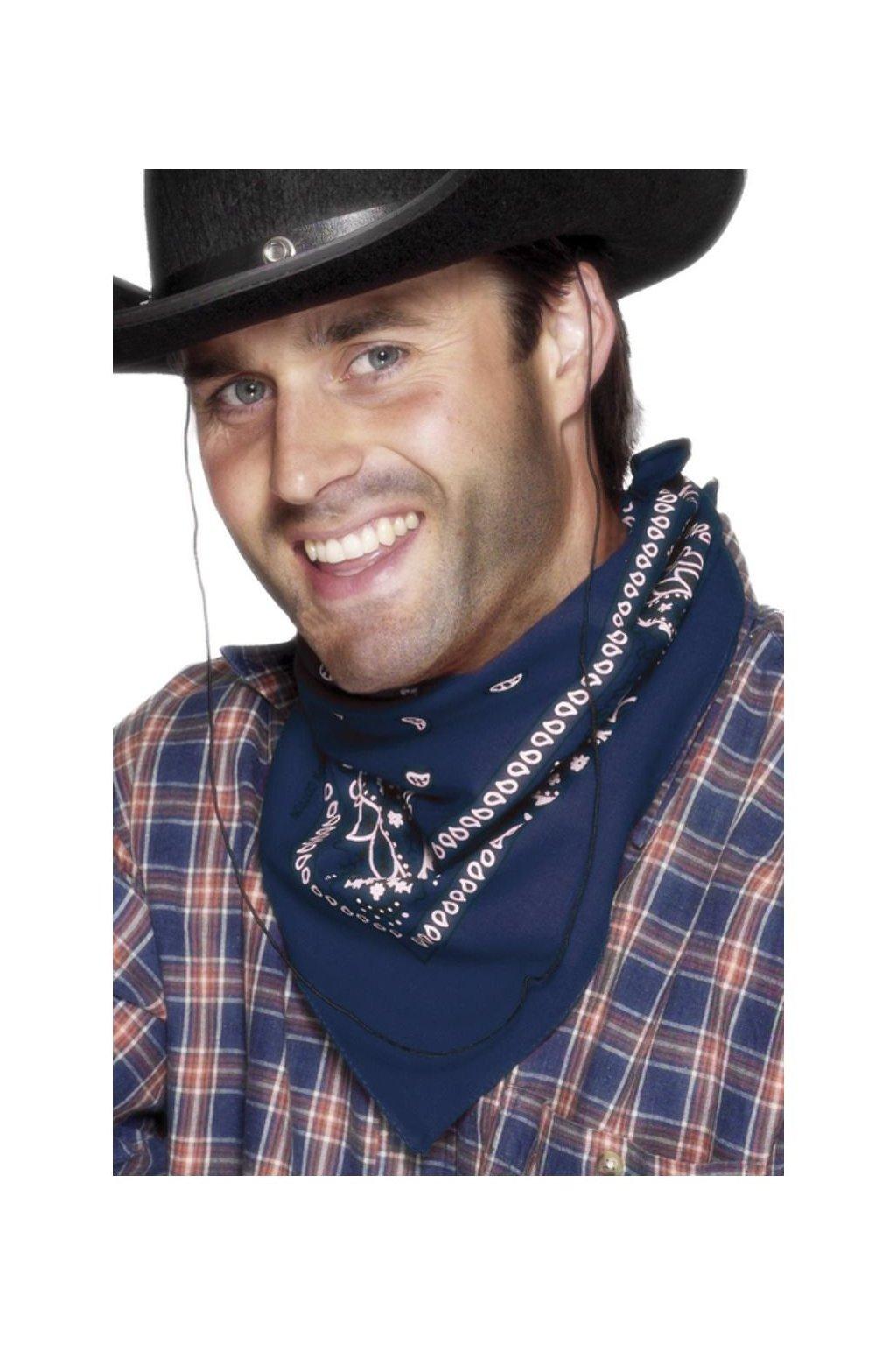 Kovbojský šátek modrý