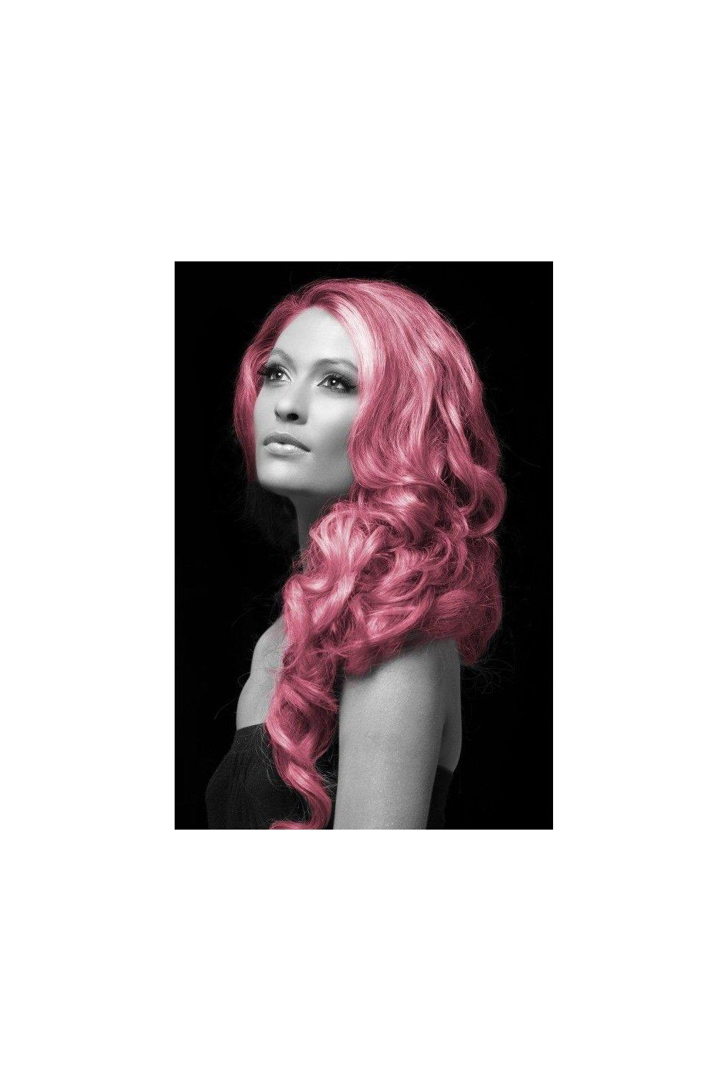Růžová barva na vlasy ve spreji