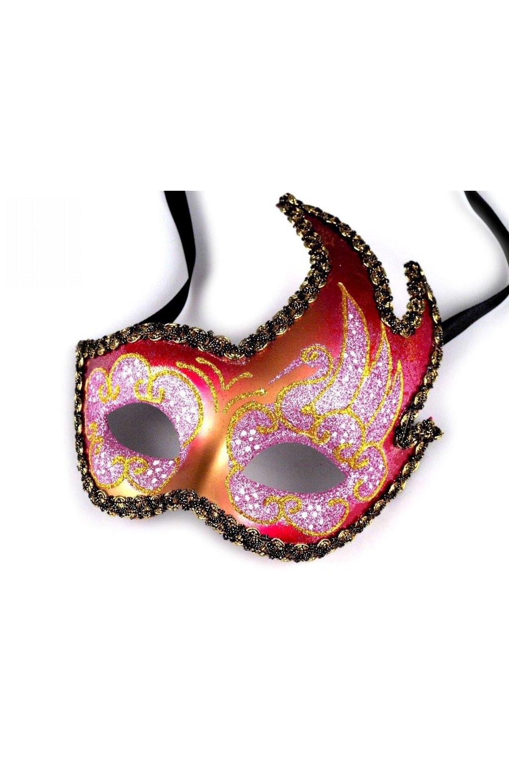 Růžová maska