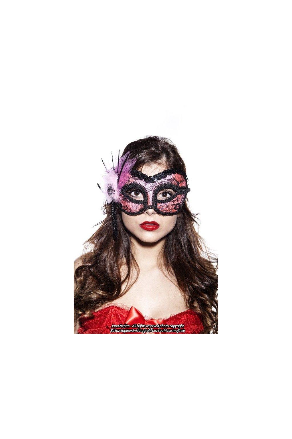 Škraboška s krajkou - Burlesque