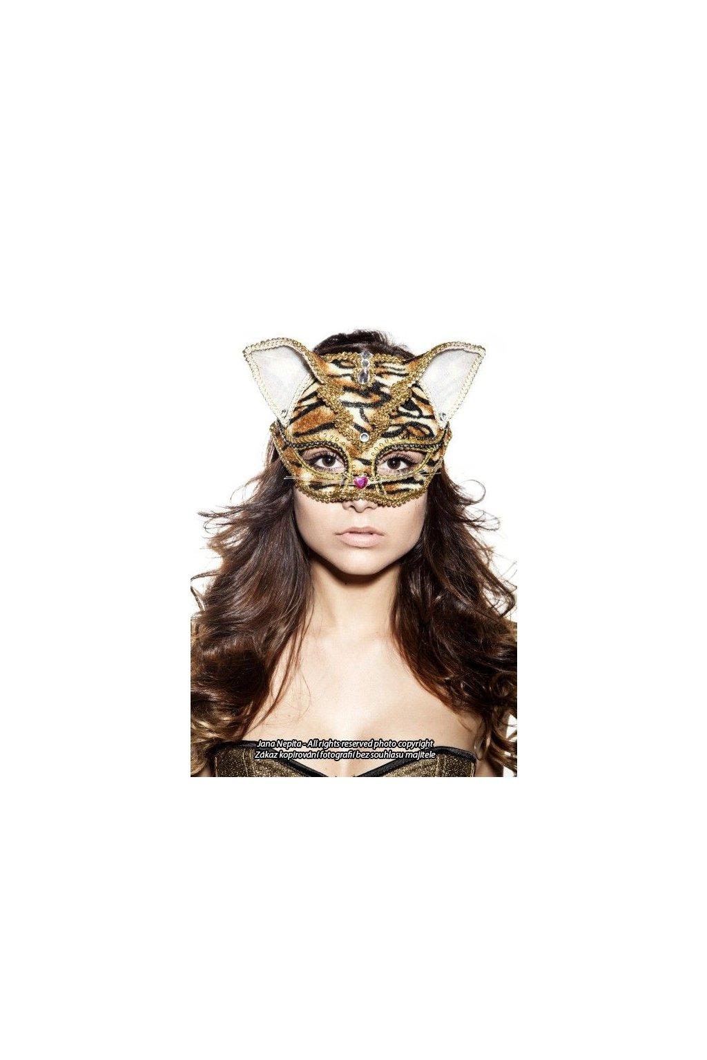 Luxusní škraboška tygřice