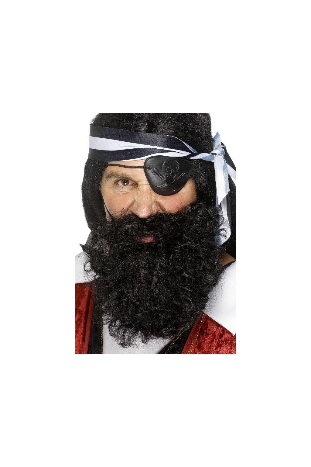 Pirátské vousy černé