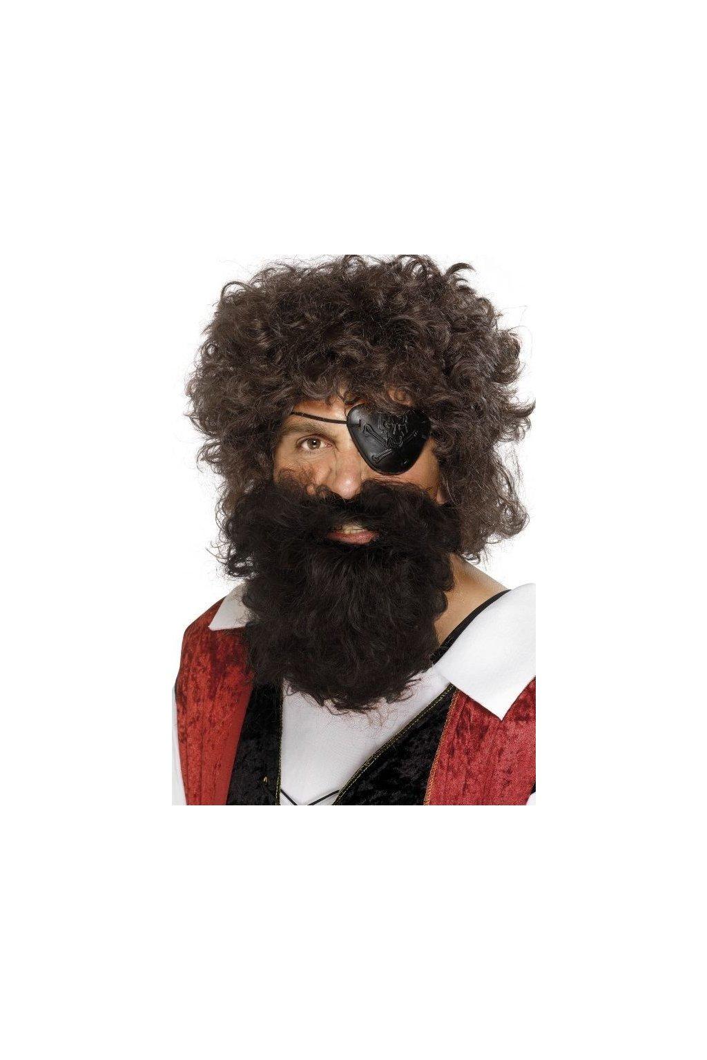 Pirátské vousy hnědé