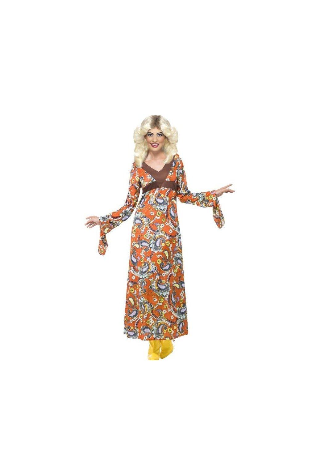 Kostým hipie Woodstock maxi dress