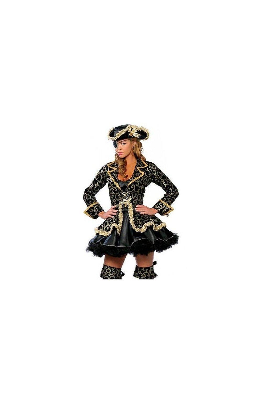 Pirátka dámský kostým - zlatý