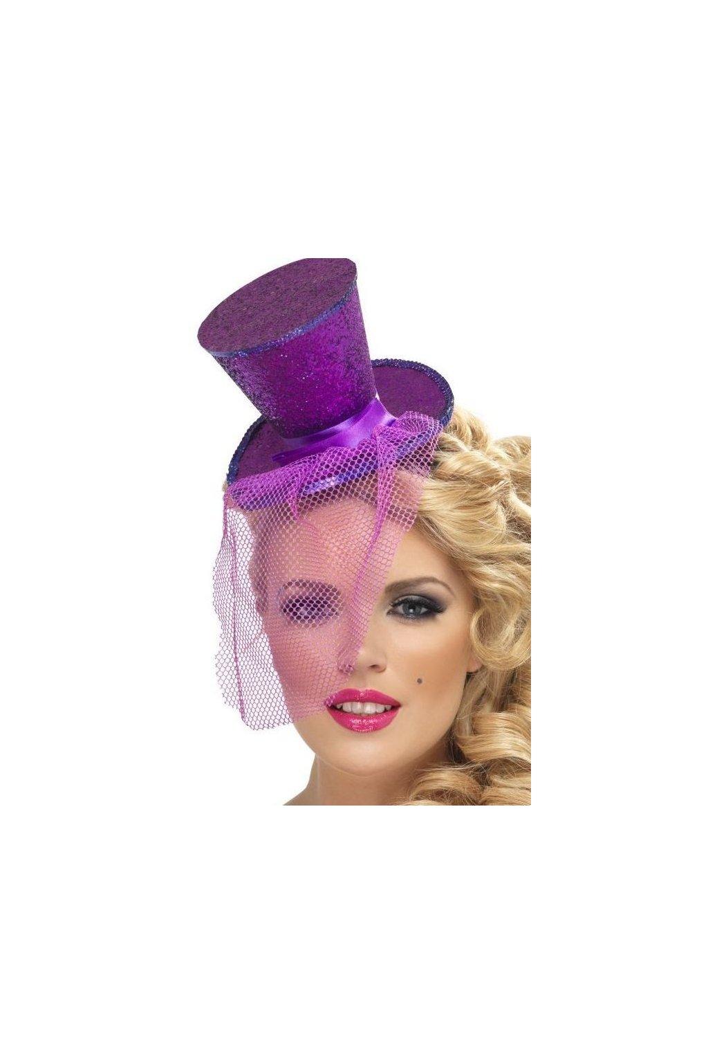 Mini klobouček - fialový