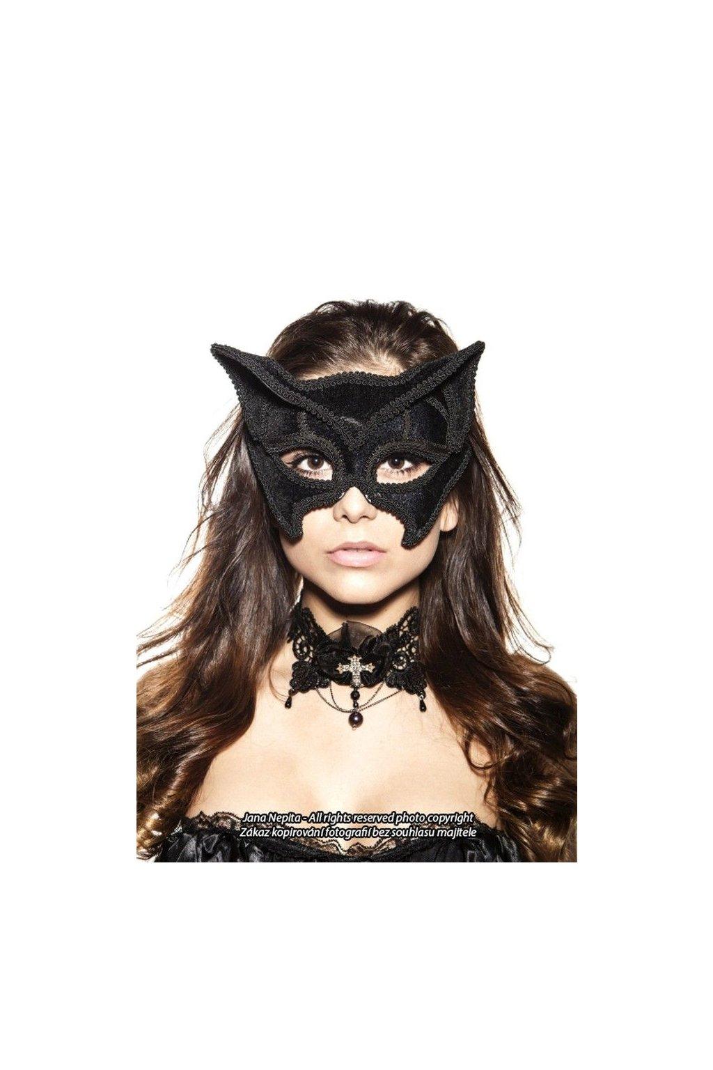 Černa škraboška - Deluxe Mystery Cat