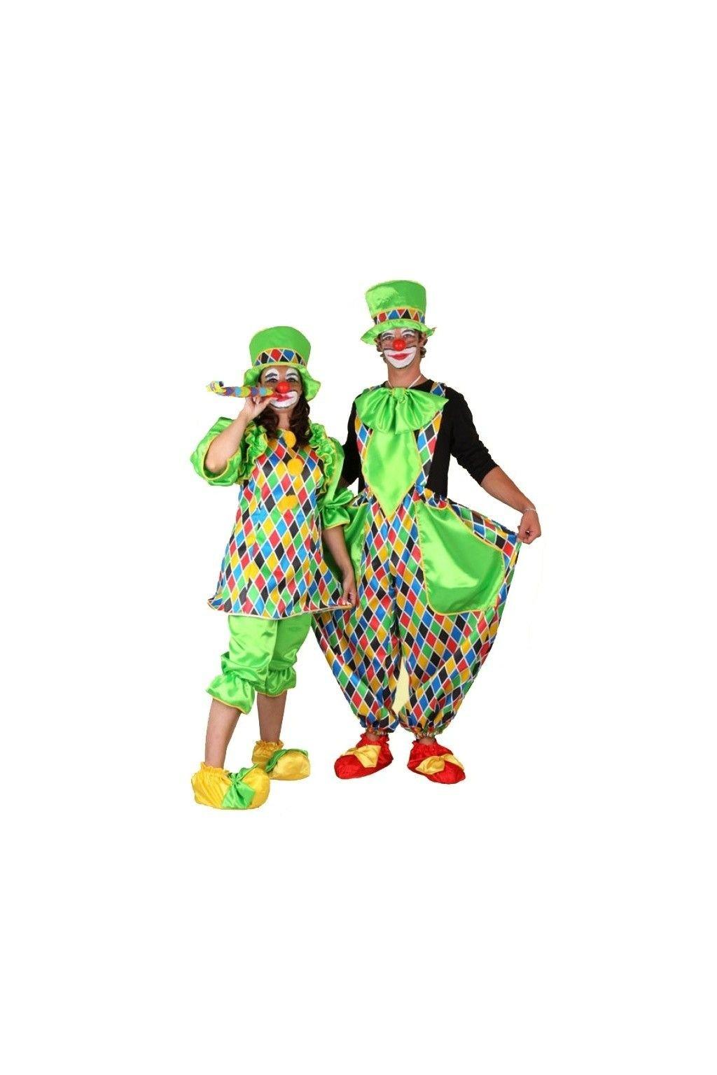 Kostým klaun dámský zelený