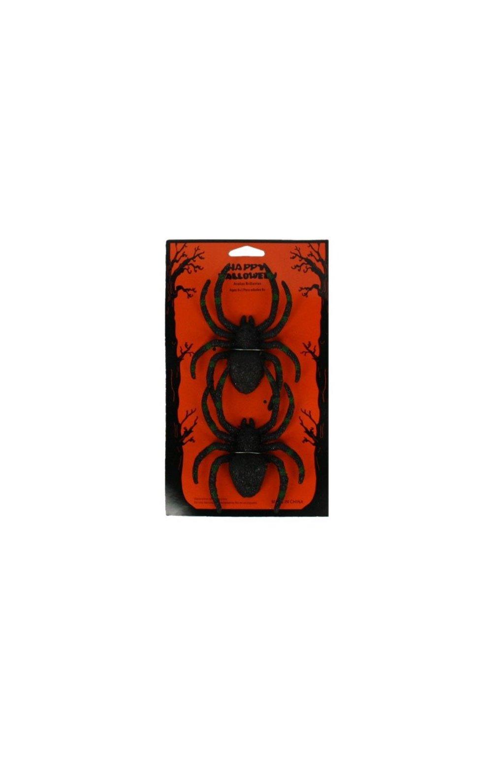 Dekorace pavouci 2 kusy