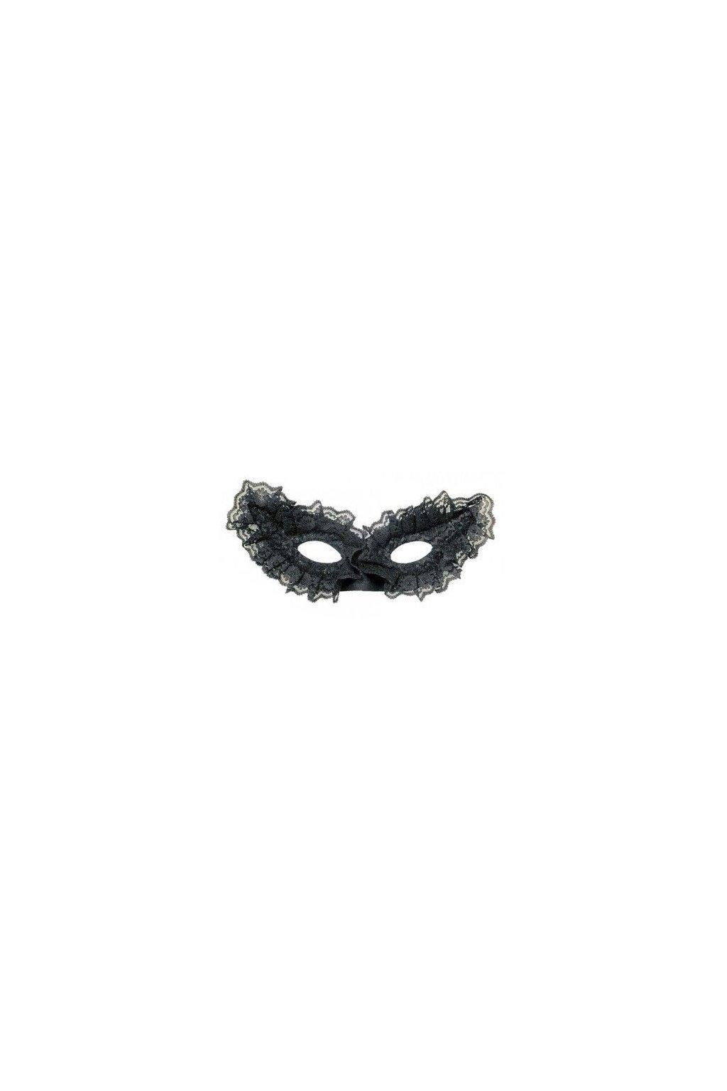 Krajková škraboška - černá