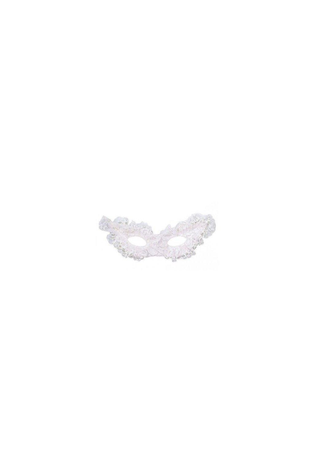 Krajková škraboška - bílá