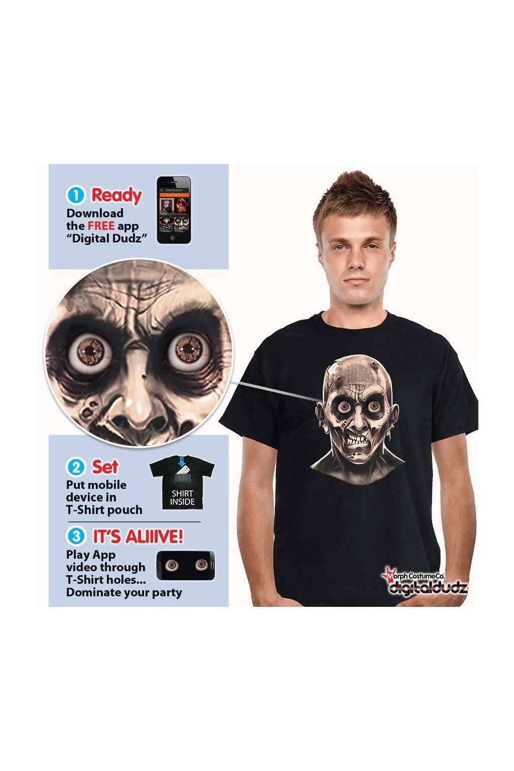 Zombie - tričko - digitální kostým