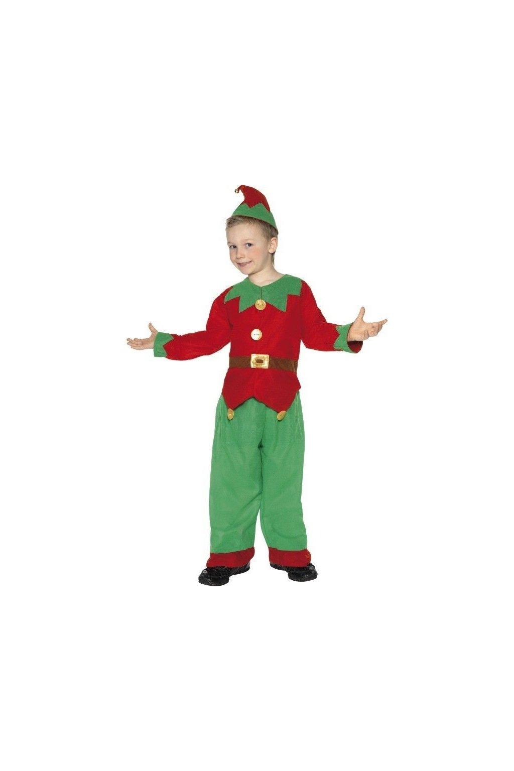 Elf - dětský vánoční kostým