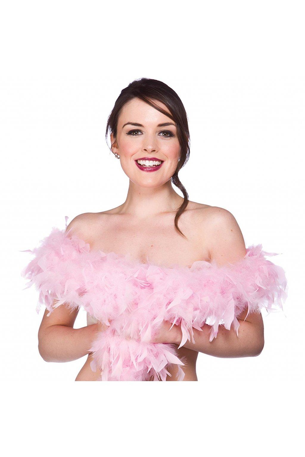 Růžové boa 180cm