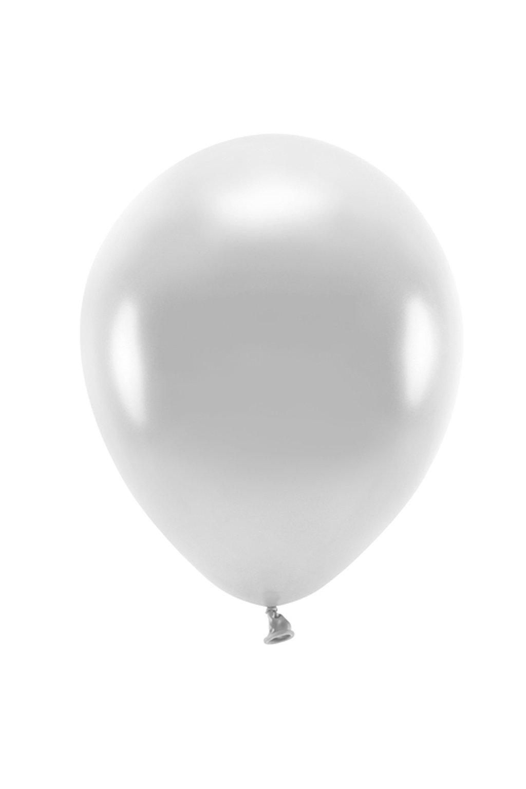 Nafukovací balónek stříbrný - 27 cm