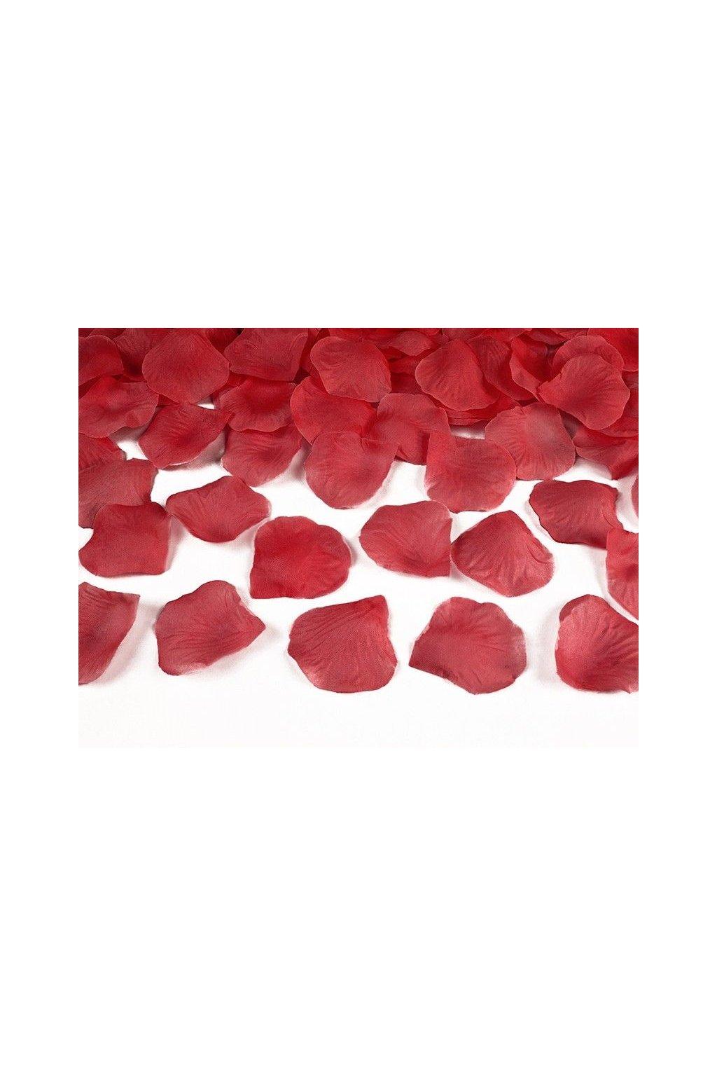 Lístky růže - červené 100ks