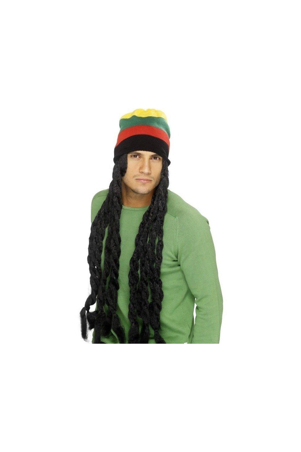 Čepice s dredy - Rasta