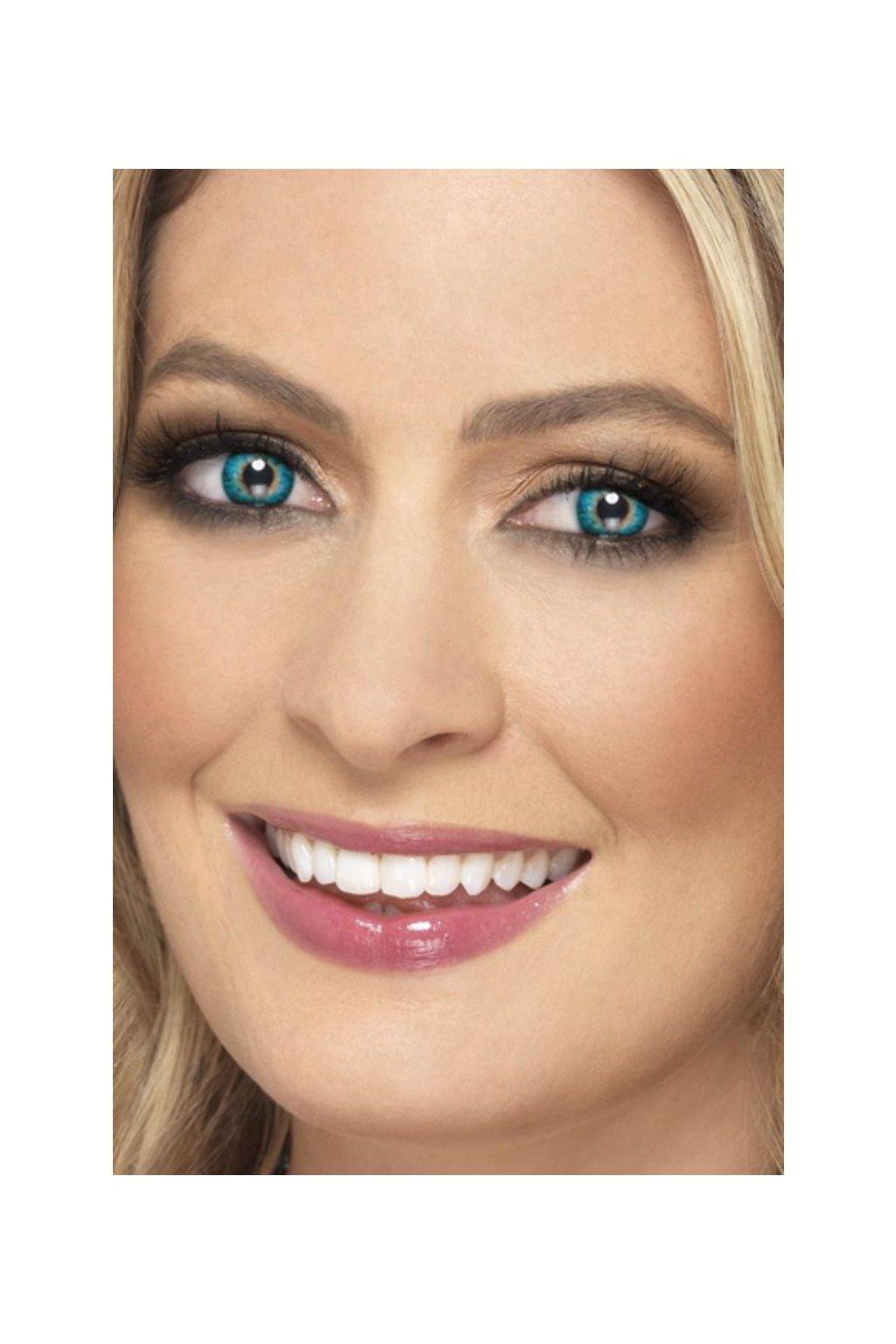 Tyrkysové kontaktní čočky - modro/zelené