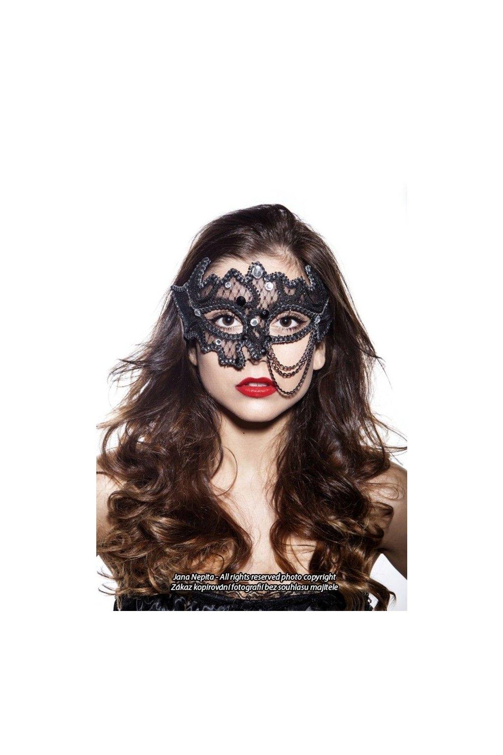 Exkluzivní maska - černá