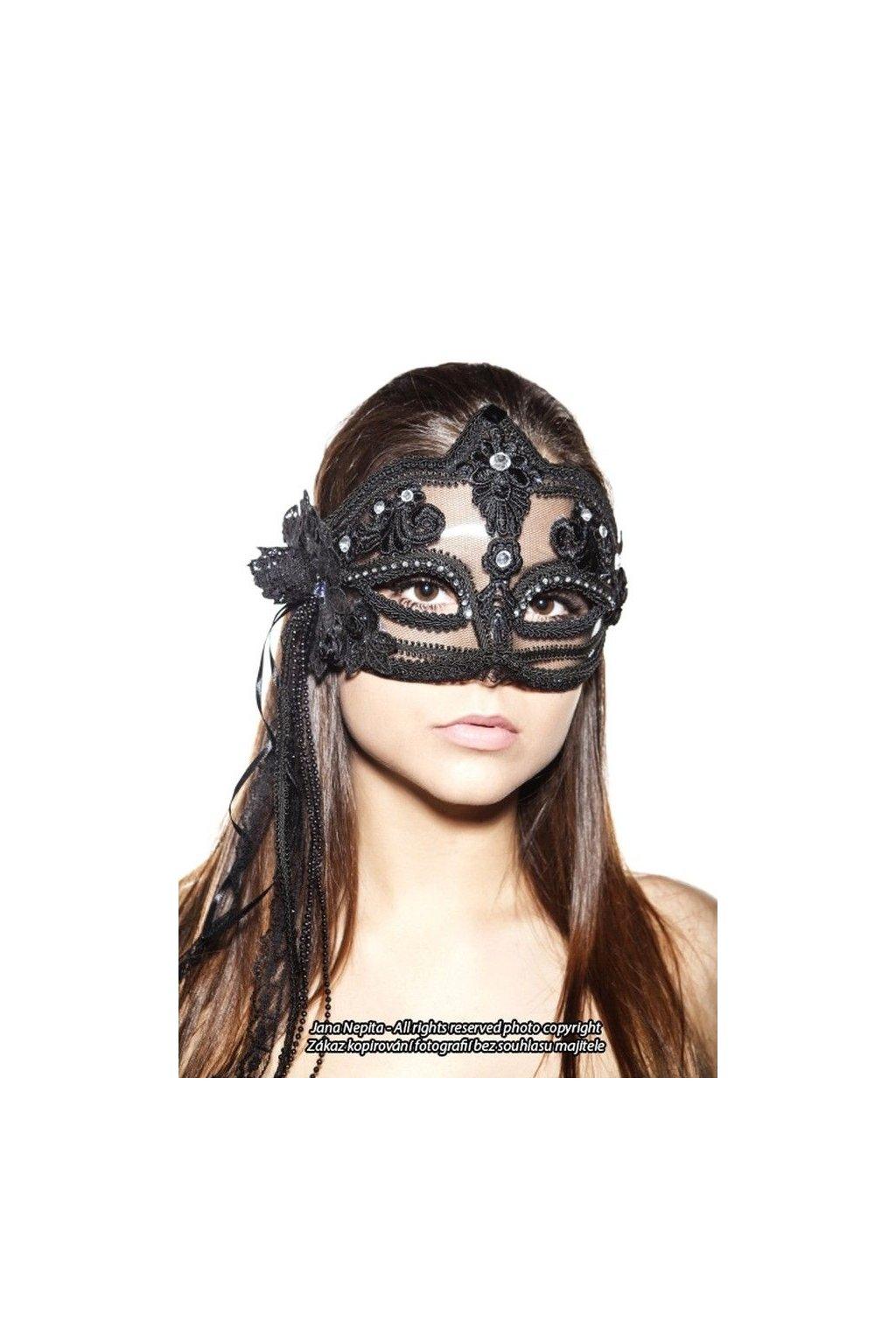 Jedinečná černá karnevalová maska