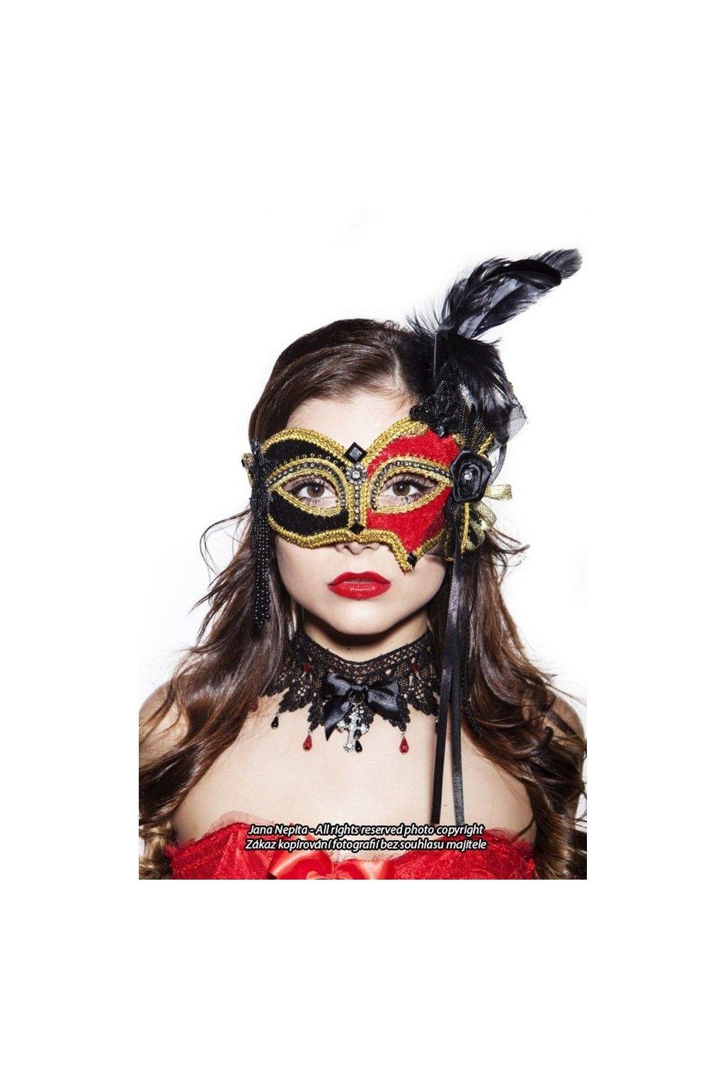 Luxusní maska - královna plesu