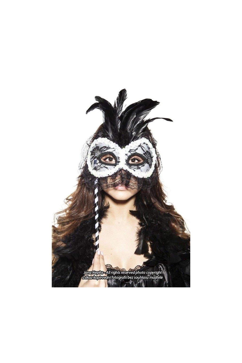 Plesová maska s paličkou