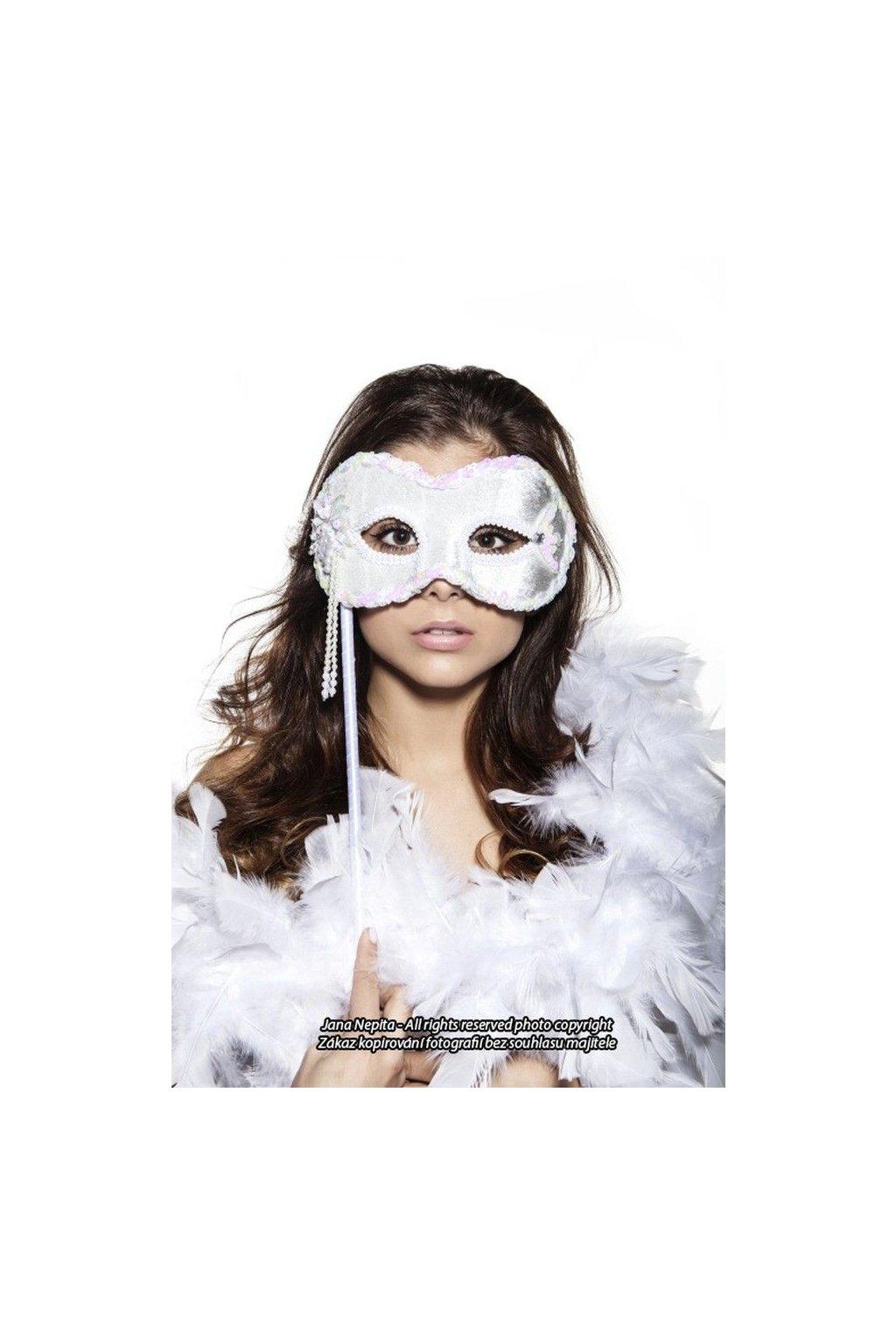 Plesová maska s tyčkou