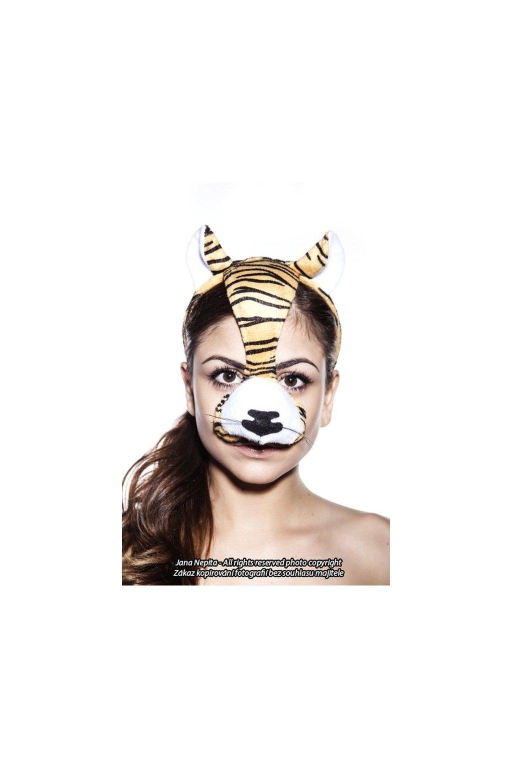 Maska tygra se zvukem