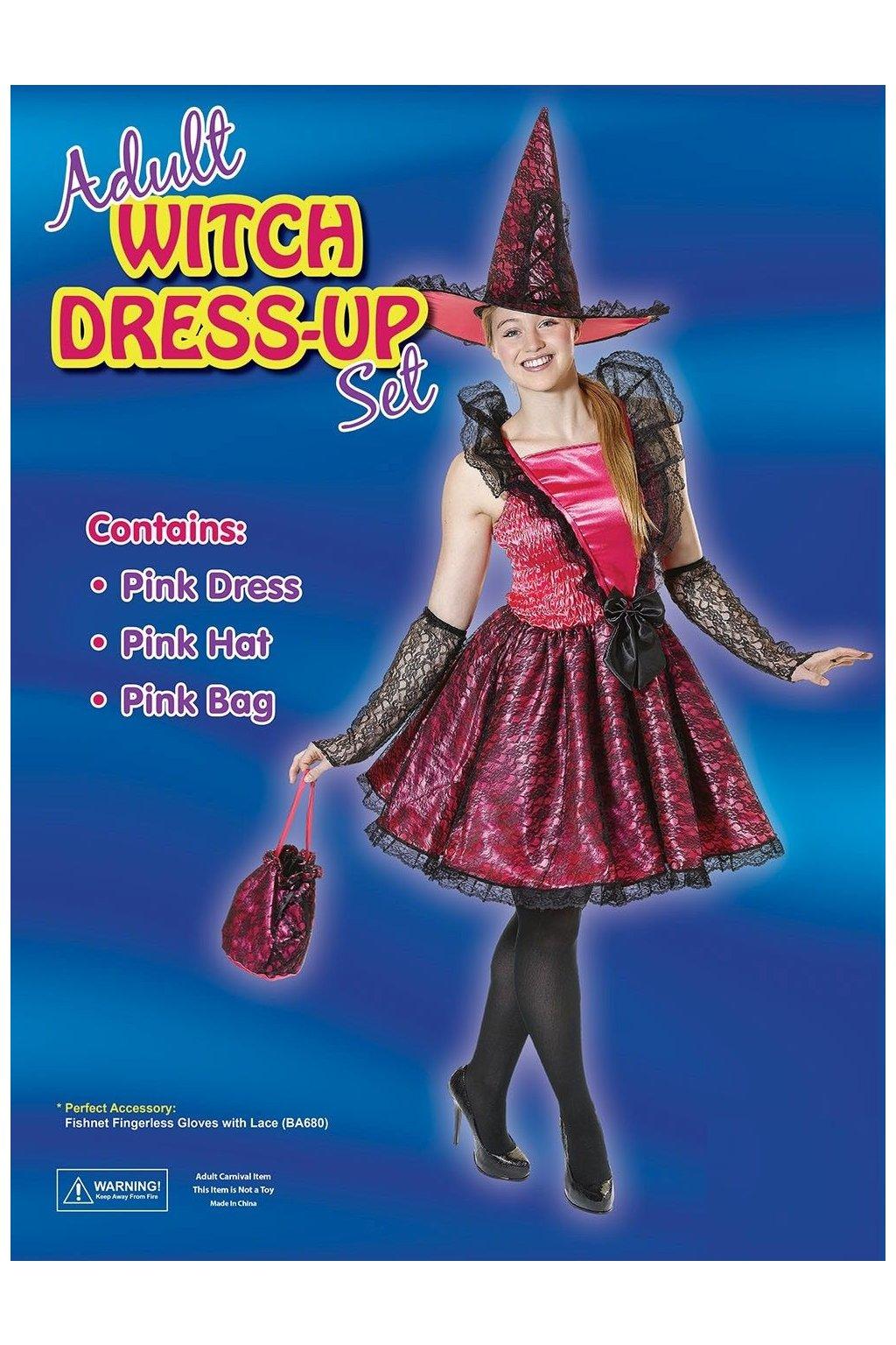 Kostým čarodějky s kabelkou
