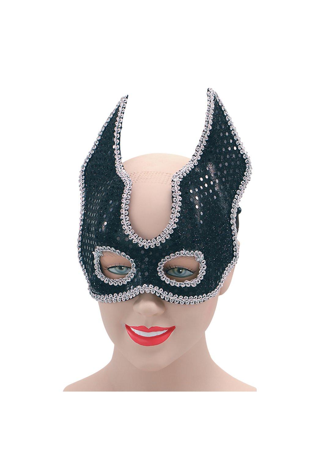 Černostříbrná maska