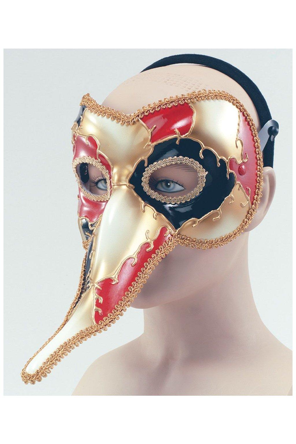 Benátská maska s nosem - výprodej
