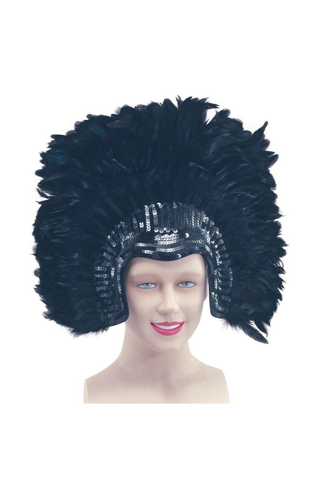 Karnevalová čelenka Rio De Janiero - černá