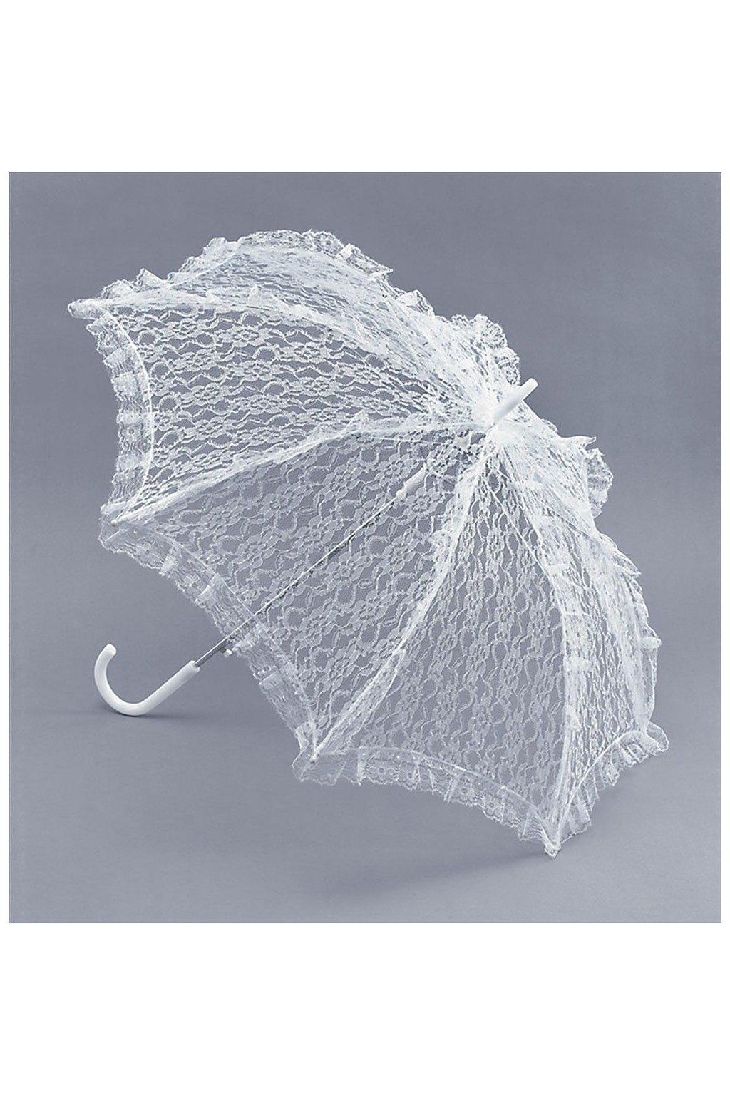 Bílé paraple - svatební dekorace