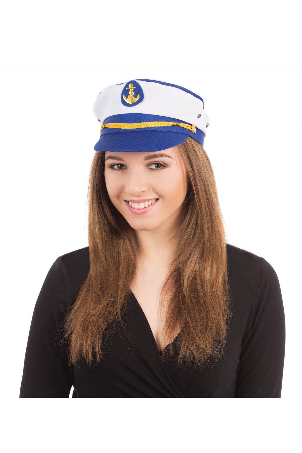 Čepice kapitán - námořnická čepice s kotvou